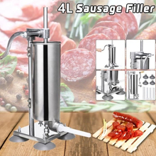 Manual Sausage Fill Meat Stuffer Stainless Steel Sausage Filling Machine Homemade Sausage Syringe Sausage Maker Meat Tool HWC