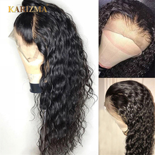 Peruvian Water Wave Lace Front Human Hair Wigs 13X4 Wig With Baby Pre Plucked Natural Hairline 150% Karizma