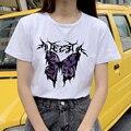 Футболки с принтом «бабочка» свободные женские футболки Harajuku одежда женская летняя футболка модная уличная топы, женские футболки