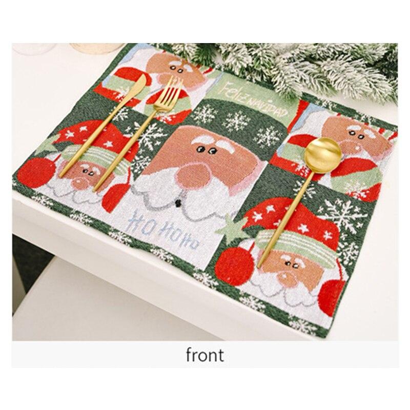 Скатерть Рождественская Вязаная Санта Клаус Венок обеденный