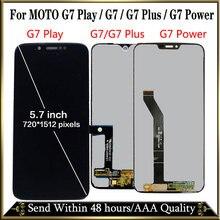 100% テストモトローラモトG7 XT1962 液晶G7 表示タッチスクリーンセンサーパネルdigiziter組立モトG7 パワーlcd