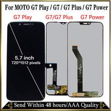 100% Tested For Motorola Moto G7 XT1962 LCD G7 Play Display Touch Screen Sensor Panel Digiziter Assembly For moto G7 Power LCD