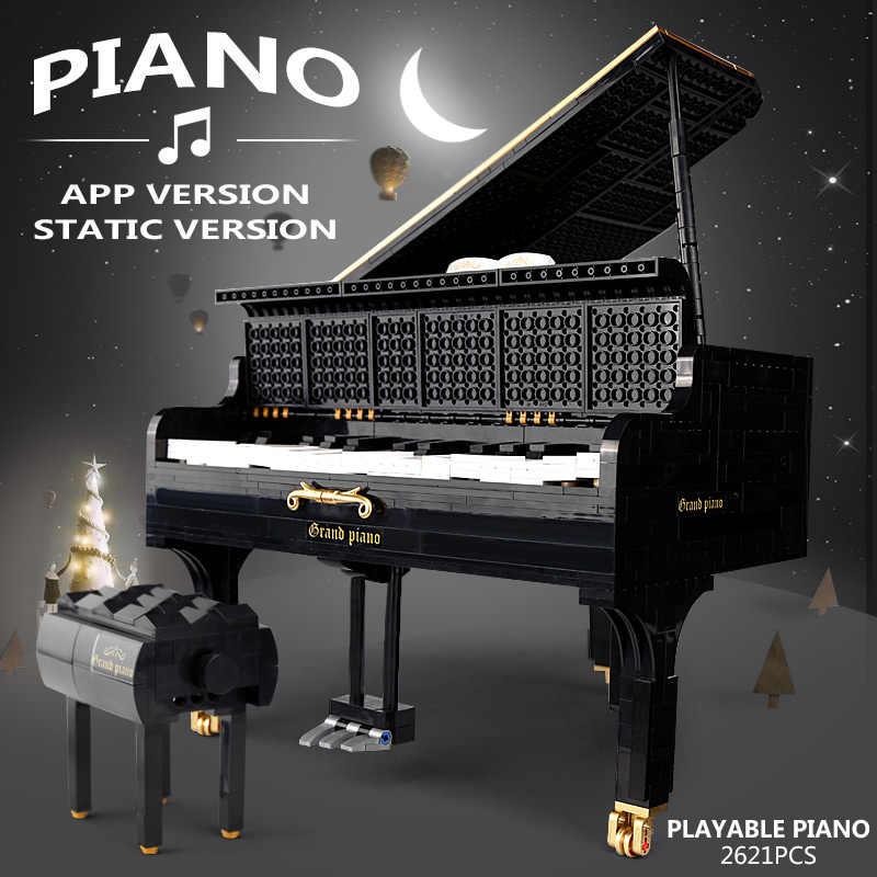 MOC serie Technic Grand pianoforte Motore Keizer Modello di Educazione Blocchi di Costruzione Mattoni Compatibile legoing 16561 giocattoli regalo Di Natale