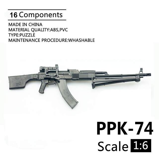 1:6 PPK-74 Soldier 2014D Assembly Model RPK74M Automatic Rifle Model 1