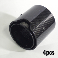 71MM IN 93MM OUT Car Exhaust pipe Carbon Fiber Exhaust tip Glossy For BMW M2 F87 M3 F80 M4 F82 F83 M5 F10 M6 F12 F13