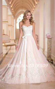 gorgeous wedding gown Sweetheart Lace appliques Luxurious Sash Girl Vintage Sexy 2021 New Arrival Bespoke Wedding Dresses