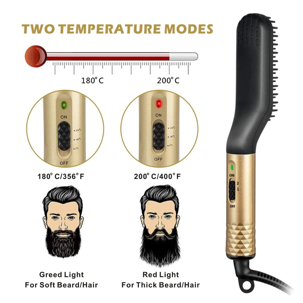 Hair Straightening Irons Beard Grooming kit Boy Multifunctional Men Beard Straightener Curling Comb Hair Styling Comb Brush