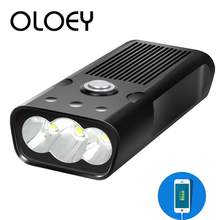 OLOEY Bike Bicycle light LED 5200mAh Light Rechargeable USB Front Lamp Waterproof Headlight Flashlight Cycling Head