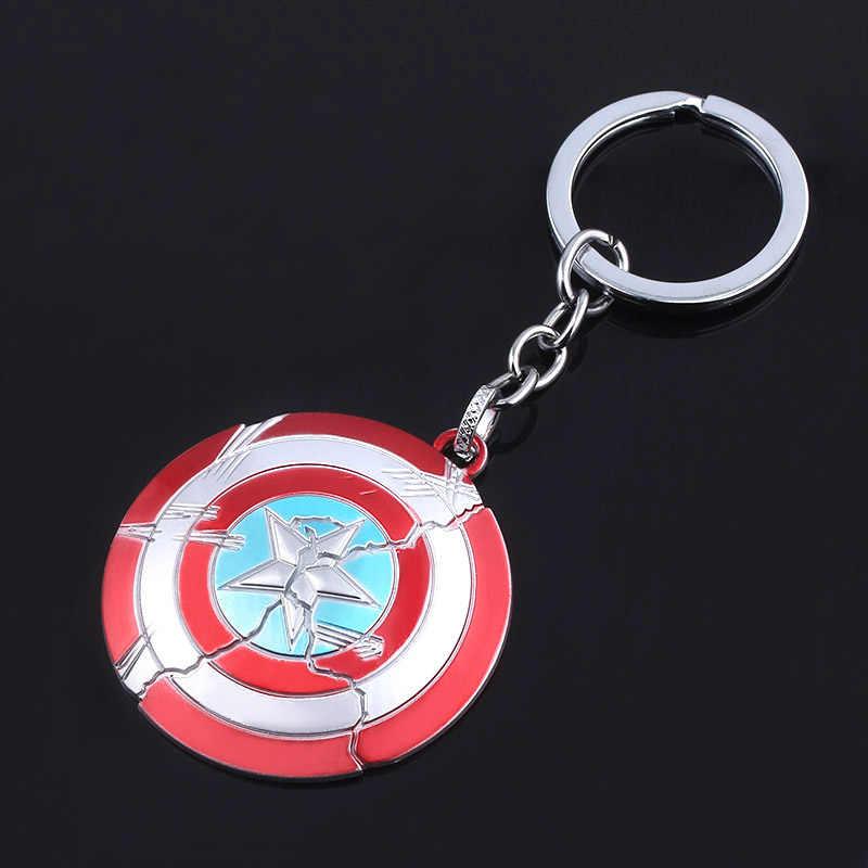SG נוקמי 4 Keychain קפטן אמריקה נזק מגן מפתח שרשרת Thor ברזל איש תאנסו Keyring גברים נשים תיק llaveros תכשיטים