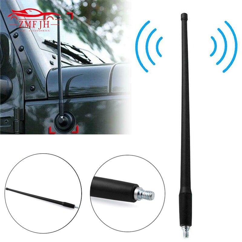 Reflex 13 AM FM Radio Antenna for Jeep Wrangler JK JL 2007 2008 2009 2010 2011 2012 2013 2014 2015 2016 2017 2018 Rugged Ridge
