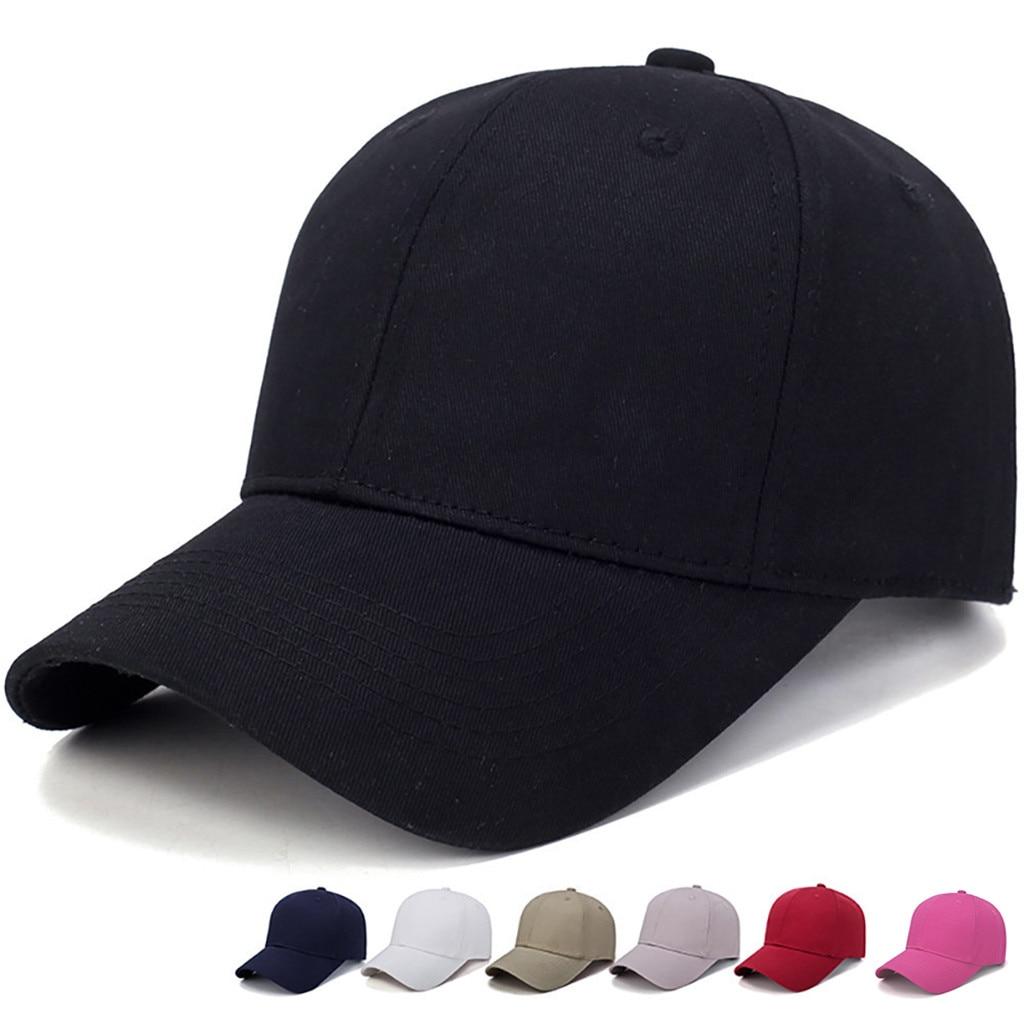 Women Men Hat Curved Sun Visor Light Board Solid Color Baseball Cap Men Cap Outdoor Sun Hat Adjustable Sports Caps In Summer #L5