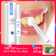 EFERO Teeth Whitening Serum Cleaning Pen Remove Plaque Stains Dental Tools Oral Hygiene Care Tooth Bleaching Whitening Serum Pen 1pc white gel teeth whitening pen oral hygiene care teeth whitening essence brighten remove plaque stains dental bleaching tools