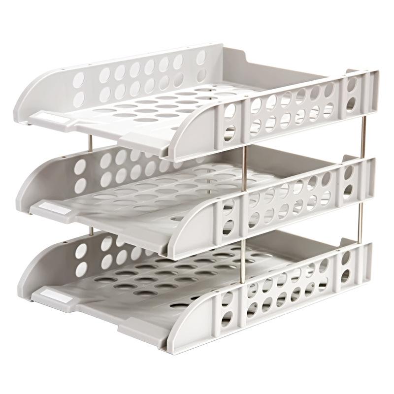 Deli 9217 File Holder Multilayer Folder Storage Box Desktop Office Desk File Storage Rack Layered Storage Shelf