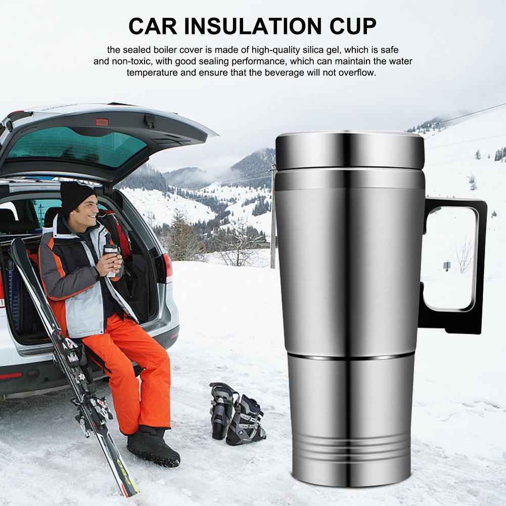 ALIDU 12V Stainless Steel Electric Travel Coffee Mug (10oz/300ml)