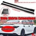6 шт.  2 2 м  универсальный вид из углеродного волокна  автомобильная боковая юбка  разветвители для губ  для BMW  для Audi  для Benz  боковая юбка  кры...