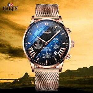 Часы наручные Haiqin мужские с хронографом, люксовые брендовые модные спортивные деловые, из нержавеющей стали