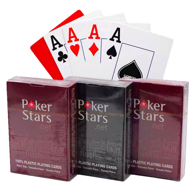 10 Sets/Lot High Quality Poker Cards Baccarat Texas Hold'em PVC Playing Cards Waterproof Frosting Poker Star Board Games 63*88mm