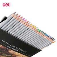 Deli Высокое качество 24/36/48 цветов профессиональный набор акварельных карандашей для рисования школьные художественные поставки оптом бренд...