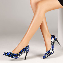 Womens High Heel Shoes Set Pointed Shallow Mouth Stiletto Large Size National Style Heels