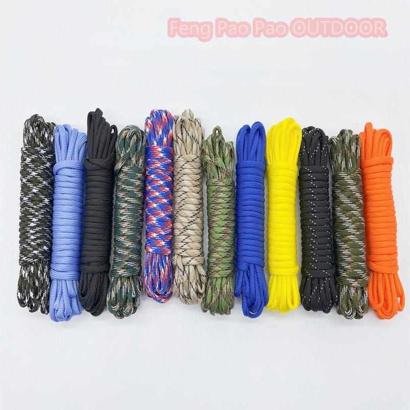 250 цветов Паракорд 550 веревка Тип III 7 стенд 100FT 50FT Паракорд шнур веревка набор для выживания оптовая продажа
