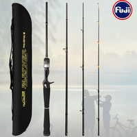 TSURINOYA Fishing Rod PARTNER 1.98m 2.13m ML M Portable Universal Rods FUJI Guide Rings Accessories Bass Sea Bass Lure Rod
