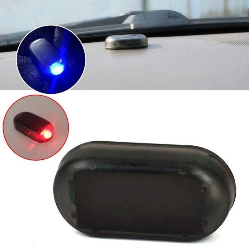 Dummy-Alarm Security-Light Warning New Simulated Led-Flashing Car-Solar-Power Anti-Theft