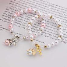 10pcs Baby Shower Favor Christening Bracelet Angel Baby Shower Girl Boy Baptism Gift Cute Giveaway Souvenir
