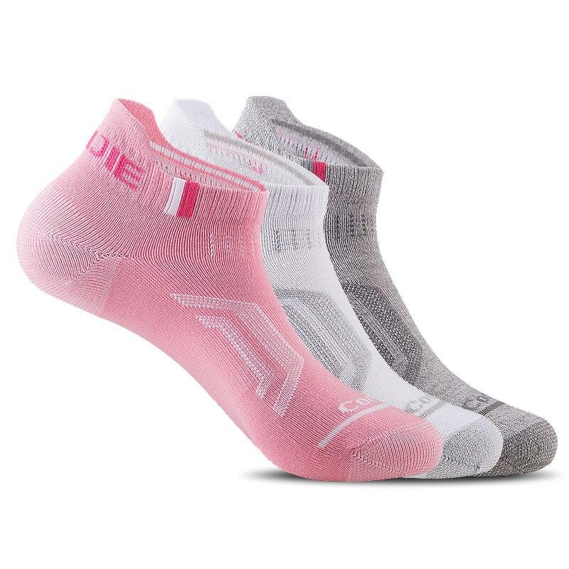 3 Pairs/lot Non-Slip Wicking Men Women Sox Spring Summer Autumn Socks Hiking Breathable Riding COOLMAX Short Sock EUR35-46