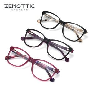 Image 5 - ZENOTTIC אצטט כיכר משקפיים מסגרות לנשים קוצר ראייה רוחק משקפיים אופטיים משקפי מסגרות מרשם משקפיים