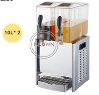 2019 gran oferta 10*2 L capacidad exprimidor de acero inoxidable máquina de bebidas comercial máquina de bebidas frías y calientes