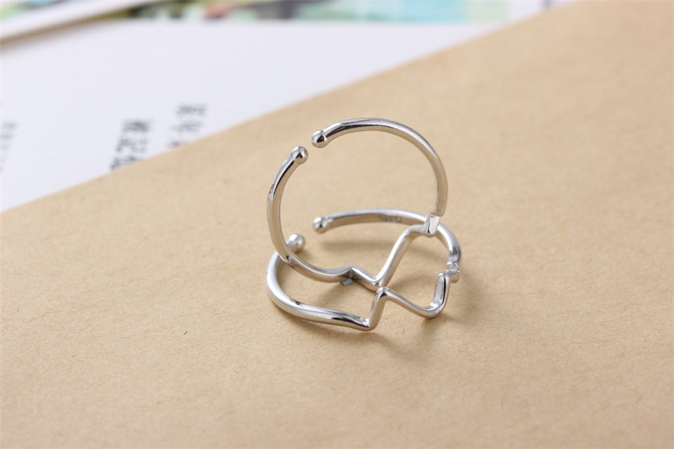 g PISSENLIT Hot Simple Adjustable Silver Ring Set Wave Ring Women Jewelry Korean Trendy Wedding Rings For Women Accessories Gifts