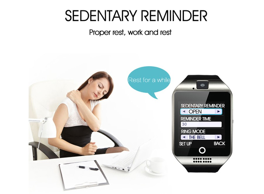 Sport watch smart camera, compatible with SIM card TF for IOS Android