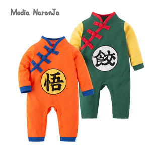 Baby Dumplings goku costume Long-Sleeved Spring Dragon Ball Romper newborn clothes photography props