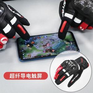 Image 3 - Motorcycle Gloves Motocross Full Finger Motorbike Gloves Touch Screen Glass Fiber Riding Biker Moto Gloves Four Seasons Unisex