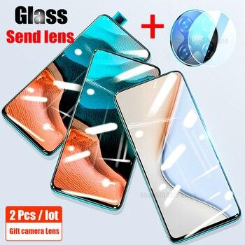 Перейти на Алиэкспресс и купить Закаленное стекло для Xiaomi Pocophone Poco M2 F2 Pro, Защитная пленка для экрана, анти-синий луч, шпион для Xiaomi Poco X2 F2 Pro, стеклянные линзы