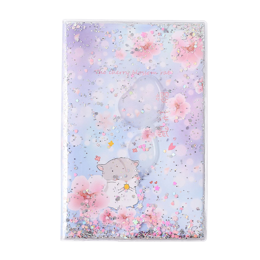 A5 Size Soft PVC Cover Notebook Lined Journal Student Diary Notebook Sequins Quicksand Rubber Sleeve Notebook