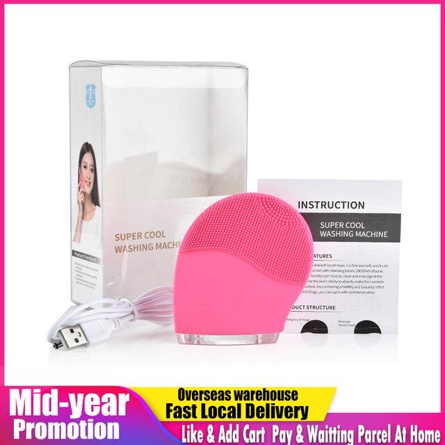 Elektrische Gesichts Reinigung Pinsel Reiniger Massage Haut Gesicht Pflege Mini Waschmaschine Wasserdichte Silikon Schmutz Entfernen SPA Werkzeug