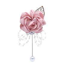 Роза жемчуг корсаж свадьба брошь булавка бутоньерка подружка невесты запястье цветок браслет для гостей жениха невесты свадьбы аксессуары