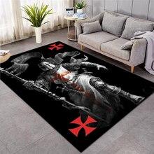 Knights Templar  cavalier Carpet Soft Flannel 3D Print Rug Parlor Mat Area Rug Anti-slip Large Carpet Rug Living Room Decor 012