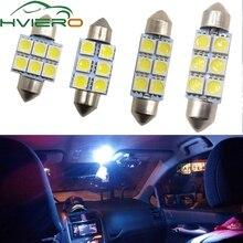цена на White Led 31mm 36mm 39mm C5w c10w 5050 6 smd DC 12v Tuiling Interior Festoon Dome Light Luggage Lamp Reading Bulb Door Light