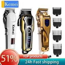 Kemei trimmer profesjonalna maszynka do włosów ścinanie włosów maszyna maszynka do włosów maszynka elektryczna do strzyżenia włosów fryzjer narzędzia 5