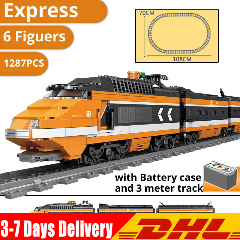 DHL IN Stock Horizon Express Model Building Kit Blocks Assemble BricksCompatible s 21007 <font><b>10233</b></font> Children Toys image