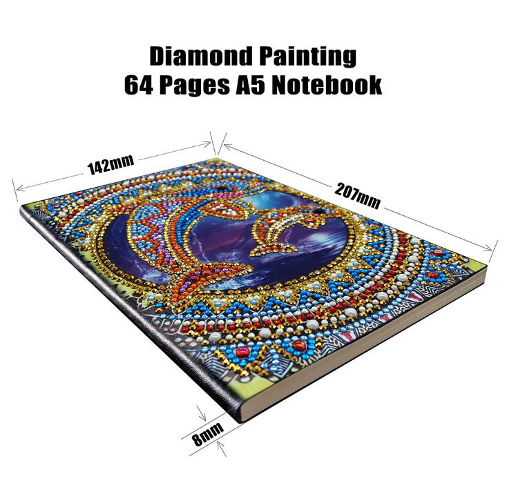 Diamond Painting Notebook 104 Pages With Flexible Cover Diy Special Shaped Diamond Painting Unruled Composition Notebook For School Office Writing And Planning Flowers Notebooks Writing Pads Paper