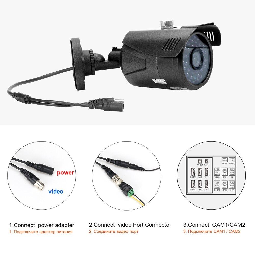 Homefong câmera de vigilância hd1080p cctv câmera