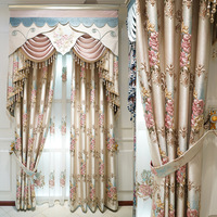High Precision Curtains for Bedroom Villa Window Curtain for Living Room Embroidered Gauze Curtains 3D Floral Girl Curtains