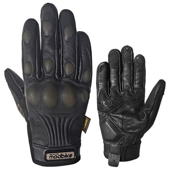 locomotive gloves leather motorcycle gloves warm retro ride men harley waterproof leather gloves cold resistant Motorcycle gloves anti-fall wear-resistant touch screen sheepskin riding gloves leather four seasons locomotive for men women