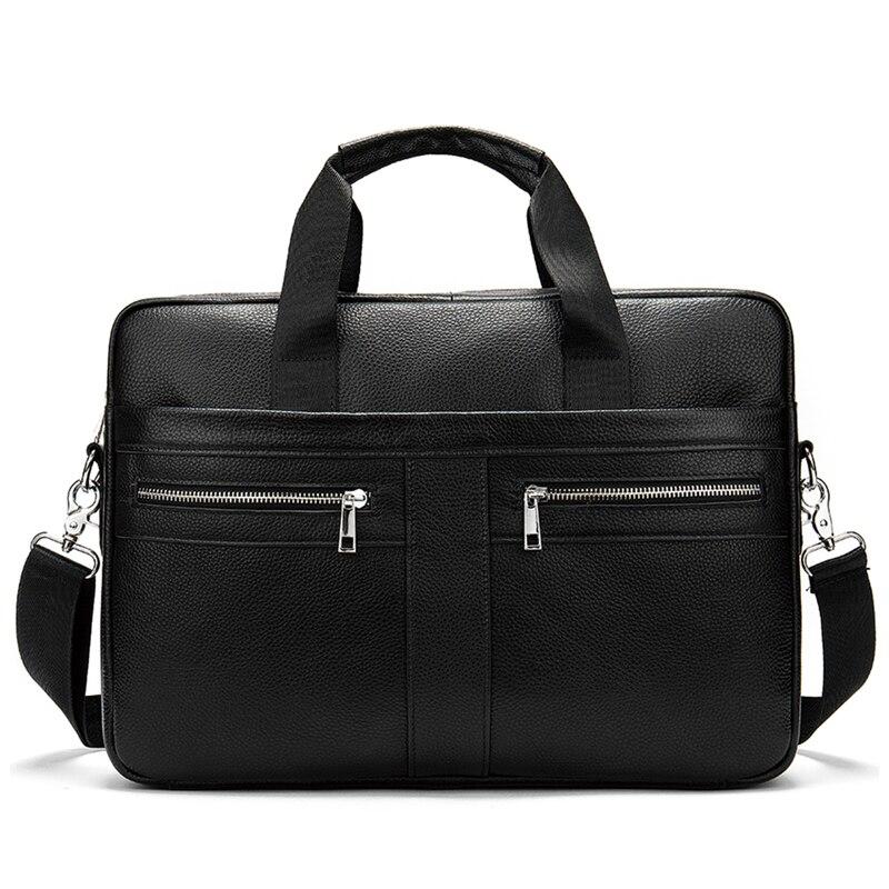 LKEEP Bag Men's Genuine Leather Briefcase Male Man Laptop Bag Natural Leather For Men Messenger Bags Men's Briefcases 2020