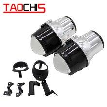 TAOCHIS רכב סטיילינג 2.5 ערפל מנורת bi קסנון מקרן עדשה עבור גולף Vi Tiguan טוארג טוראן ג טה Gaddy h11 hid קסנון אור הנורה