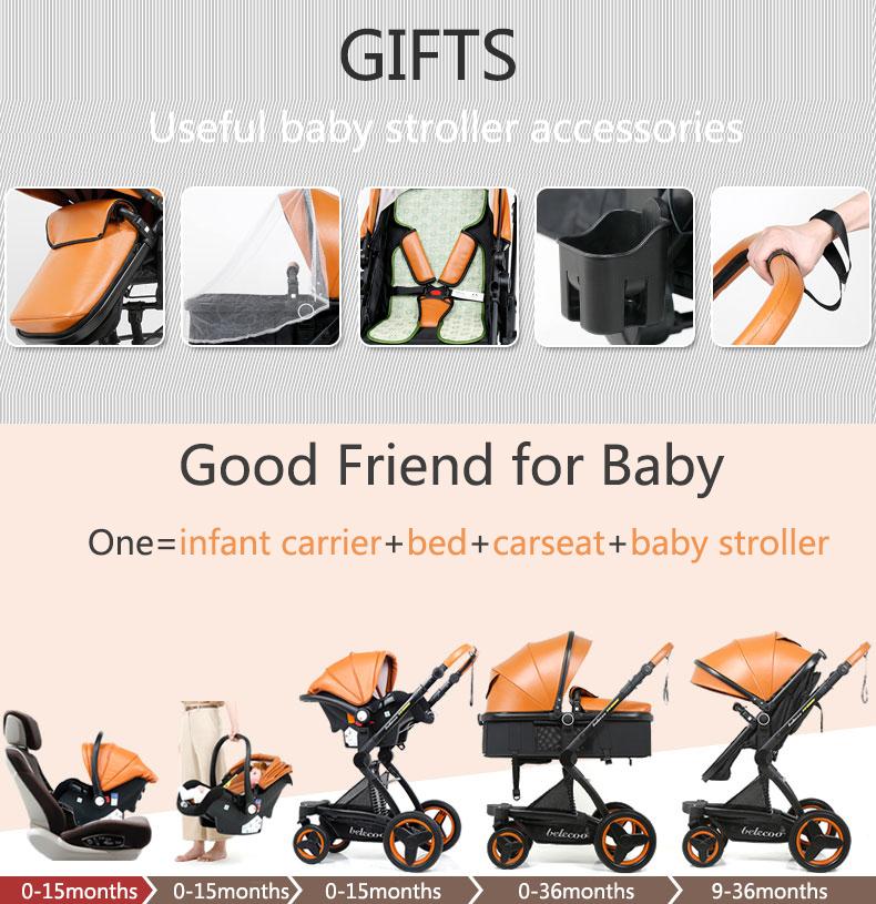 luxury baby stroller 3 in 1 (2)