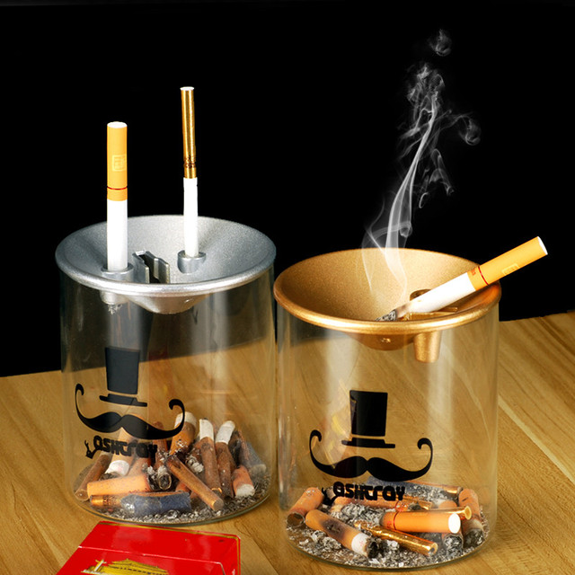 Glass ashtray with lid 1